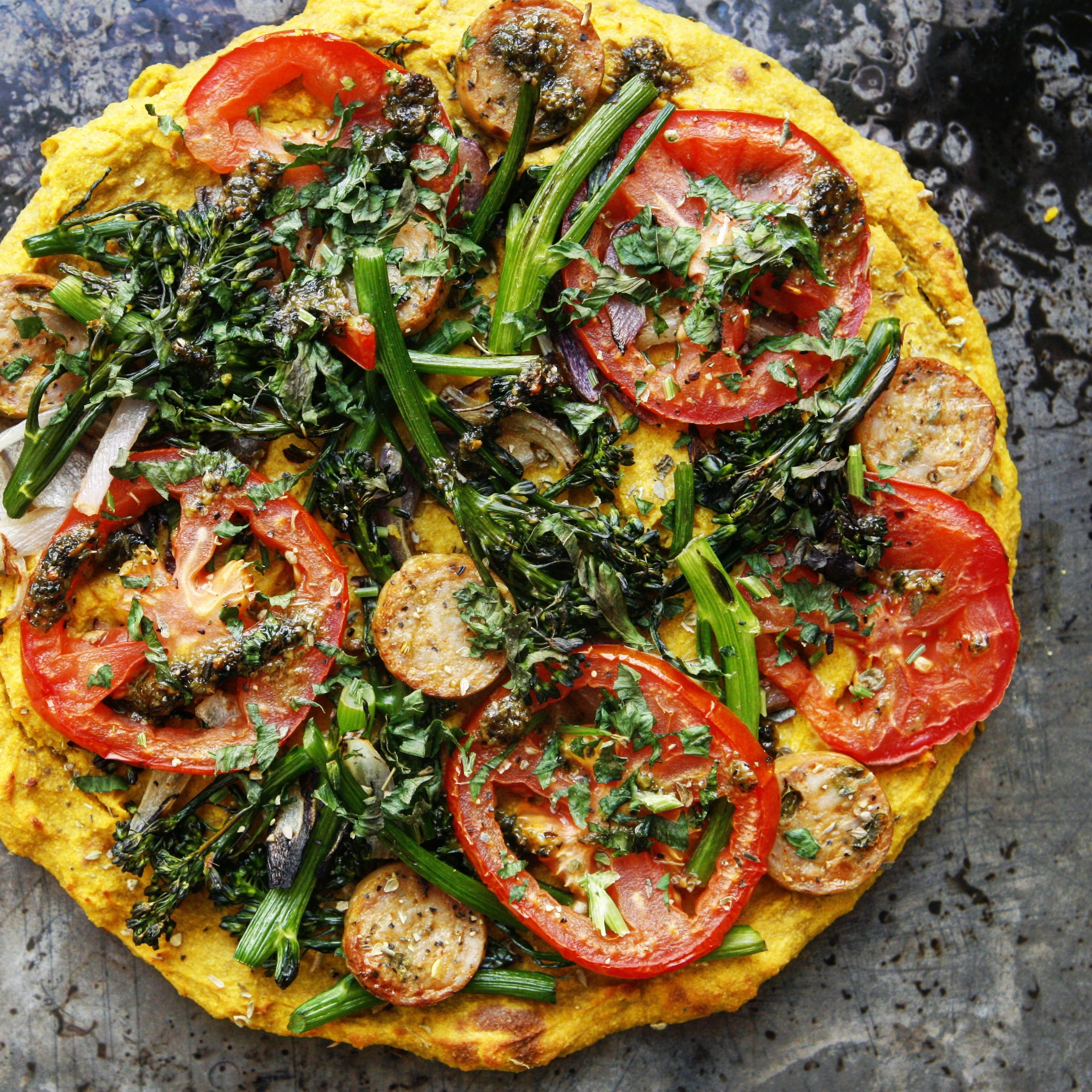 Butternut Squash Pizza Crust (Free of Grains, Dairy and Nuts!)