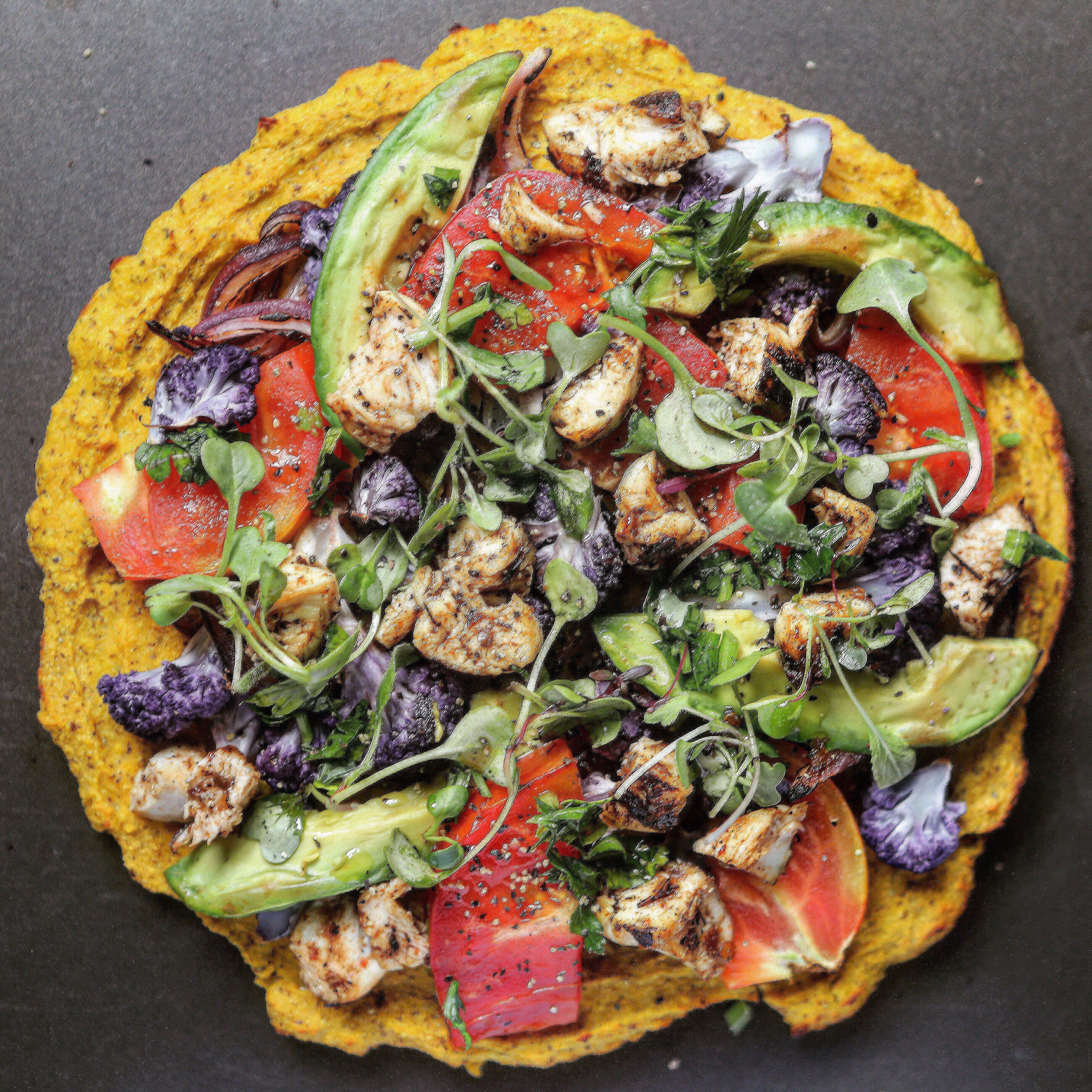 Paleo Kabocha Squash Pizza Crust!