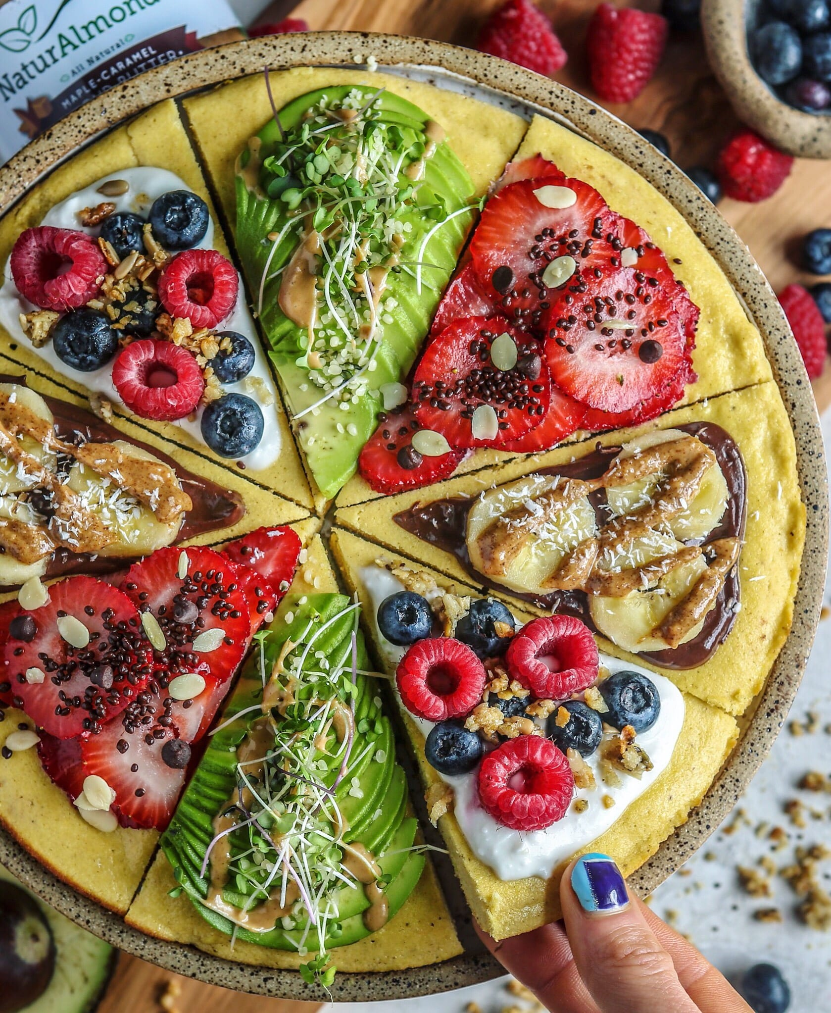 Paleo Plantain Pancake Pizza