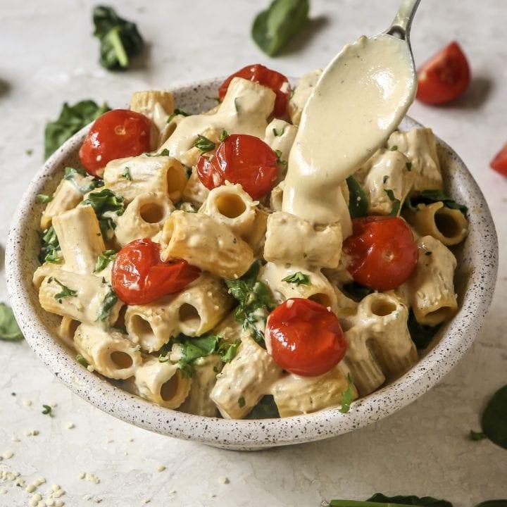 Smoky Tahini Carbonara Pasta Sauce