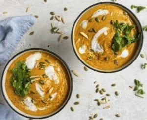 Curried Pumpkin Sweet Potato Soup