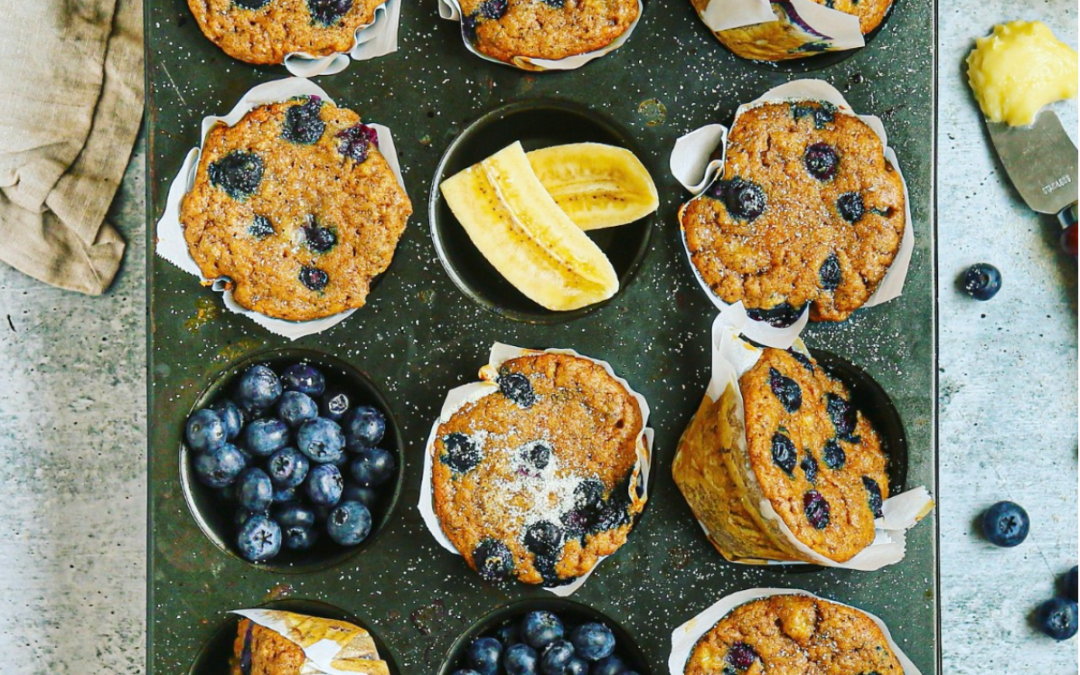 Blueberry Banana Bread Muffins | Paleo, Gluten Free