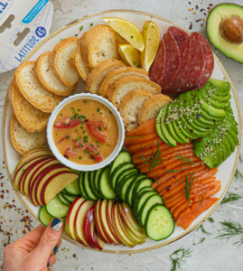 """Smoked Salmon Dubliner Cheese Dip: Collaboration with Latitude 45 """"Innovative Kitchen"""""""