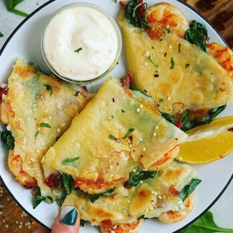10-Minute Shrimp Quesadillas