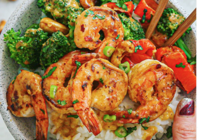 Healthy Thai Cashew Shrimp (Whole-30 friendly)