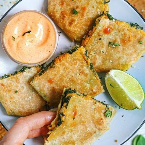 Ten-Minute COPYCAT Taco Bell Crunch Wraps! (vegan, paleo)