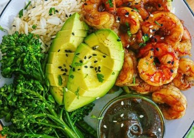 Shrimp Teriyaki with Paleo and Whole-30 Teriyaki Sauce