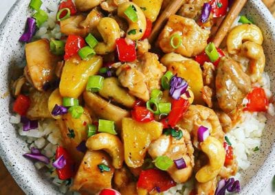 15-Minute Sweet and Spicy Pineapple Cashew Chicken