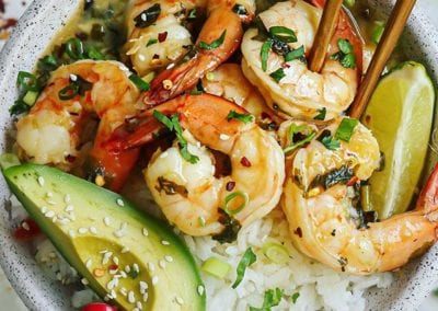 Coconut Lime Mango Shrimp