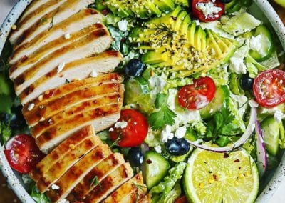 Honey Mustard Chicken Ranch Salad