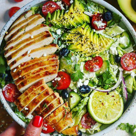 Honey Mustard Chicken Ranch Salad