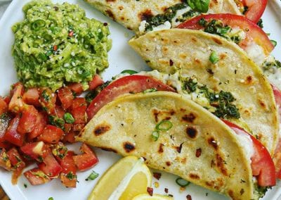 Caprese Pesto Quesadillas