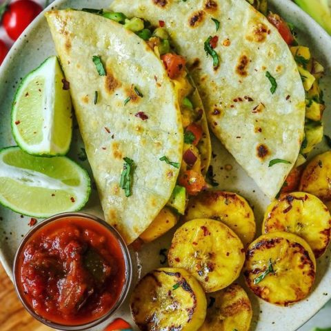 Spiced Cumin Chipotle Lime Turkey Tacos with Mango Avocado Jalapeno Salsa