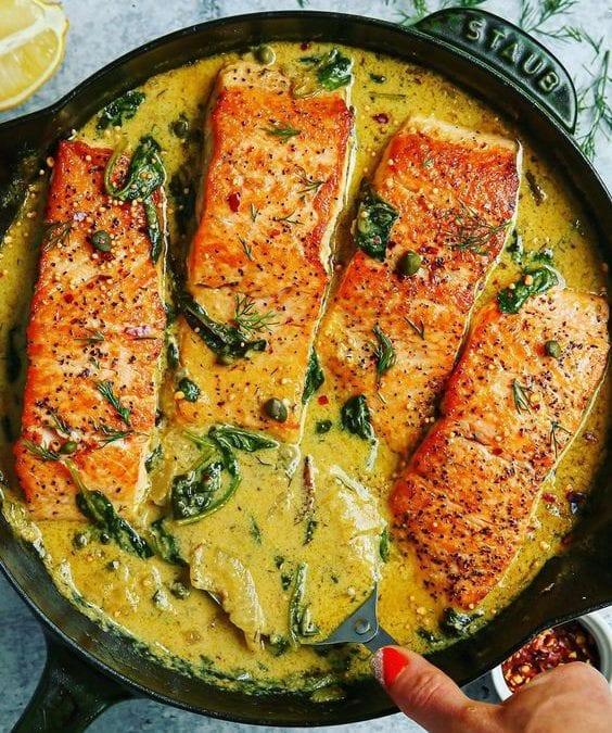 Creamy Mustard-Dill Salmon