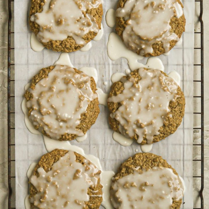 Iced Oatmeal Cookies | Vegan + Gluten Free
