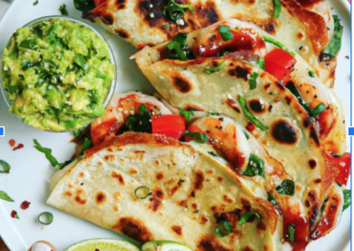 10-Minute BBQ Shrimp Quesadillas