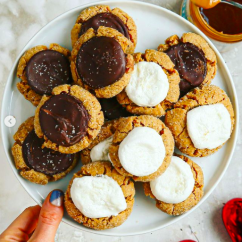 Grain-free peanut-butter blossoms (2-ways)!