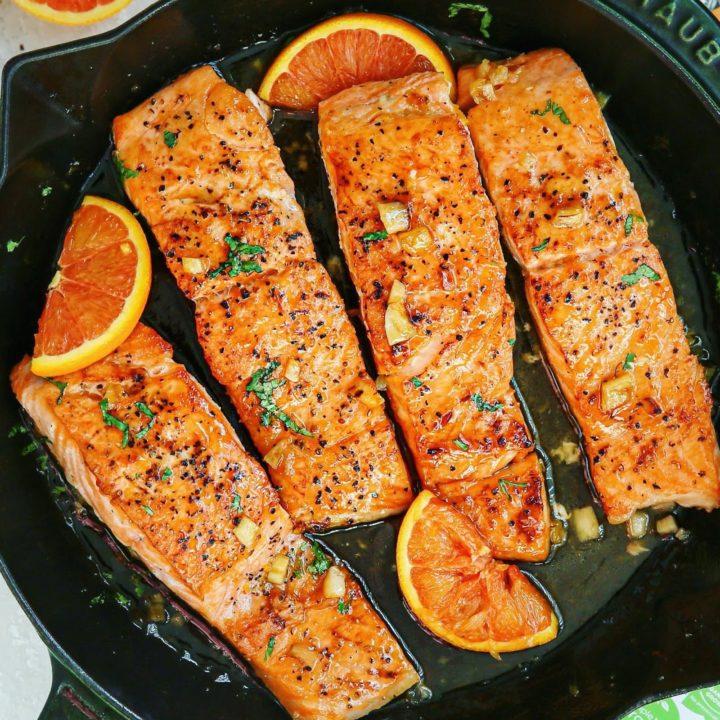Citrus-Agave Glazed Salmon 2