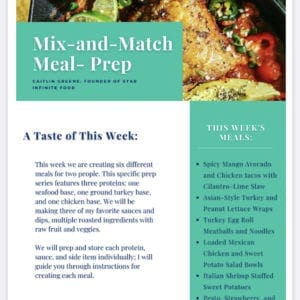 a preview image of the Star Foodie Meal Prep Series guide